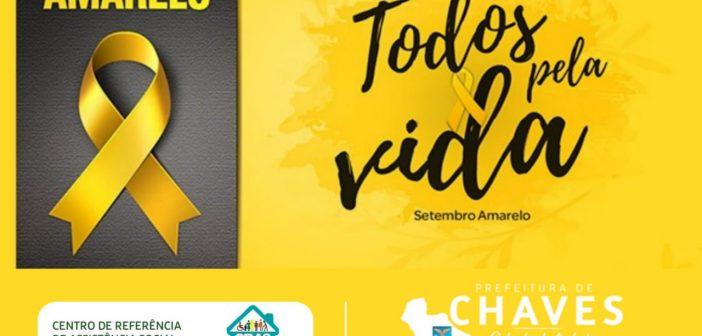 Setembro Amarelo, alerta para prevenção ao suicídio.