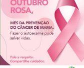 Outubro rosa, mês de prevenção ao câncer de mama