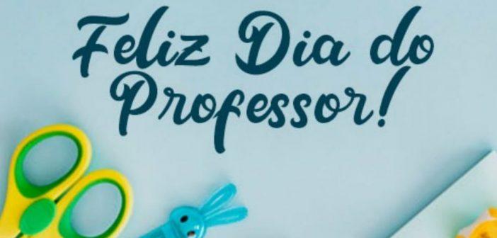 Feliz dia do professor
